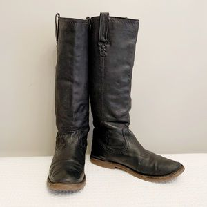 Frye black leather riding boot 8.5 B